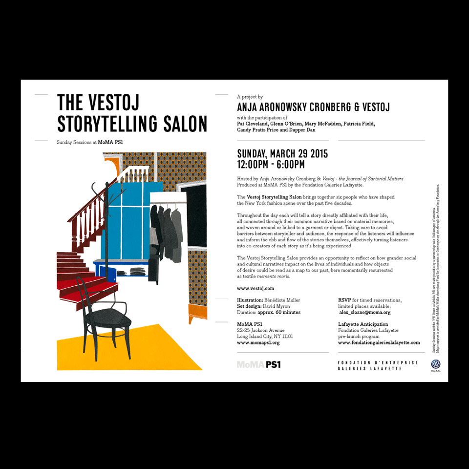 Invitation The Vestoj Storytelling Salon