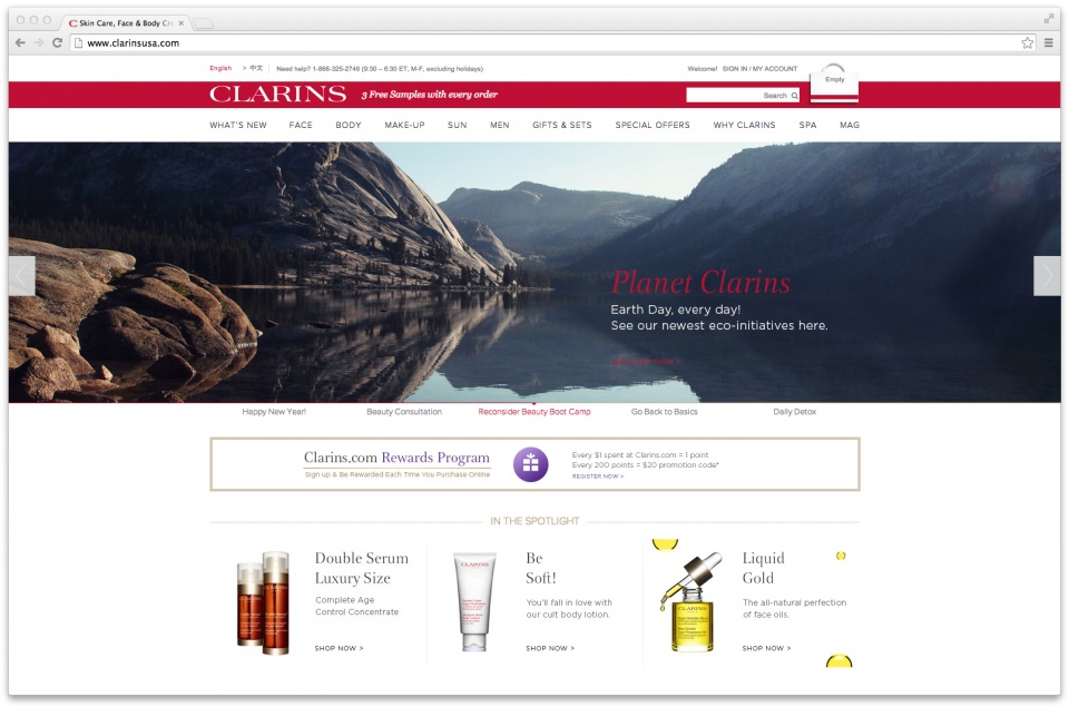 Clarins Animation Plan 2015