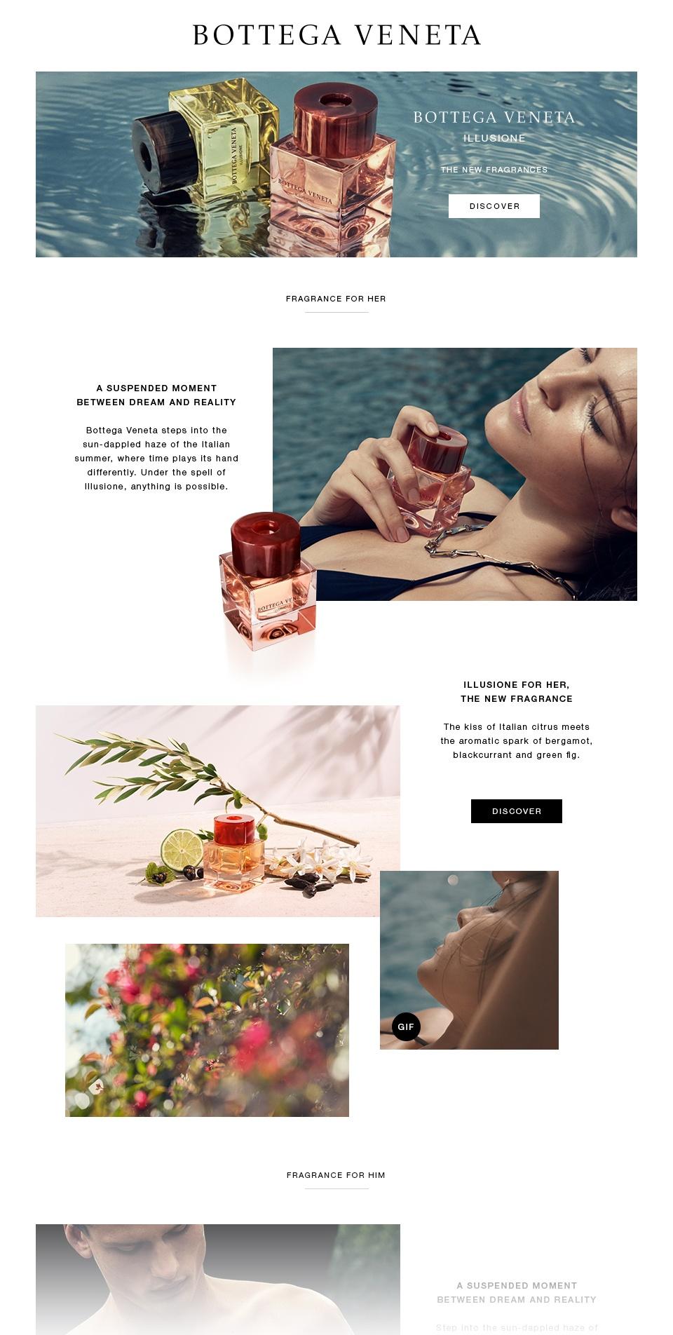 Bottega Veneta / Lancement Illusione pour Elle et Lui