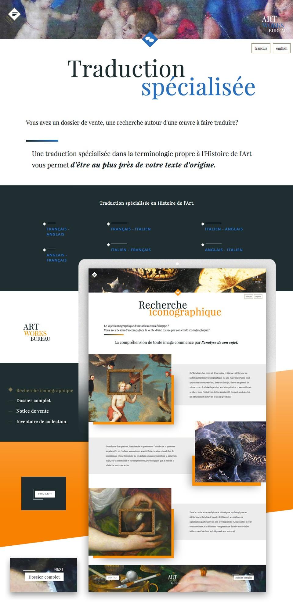 ART WORKS BUREAU - WebSite - Agence de Recherche en Peinture Ancienne et Moderne.