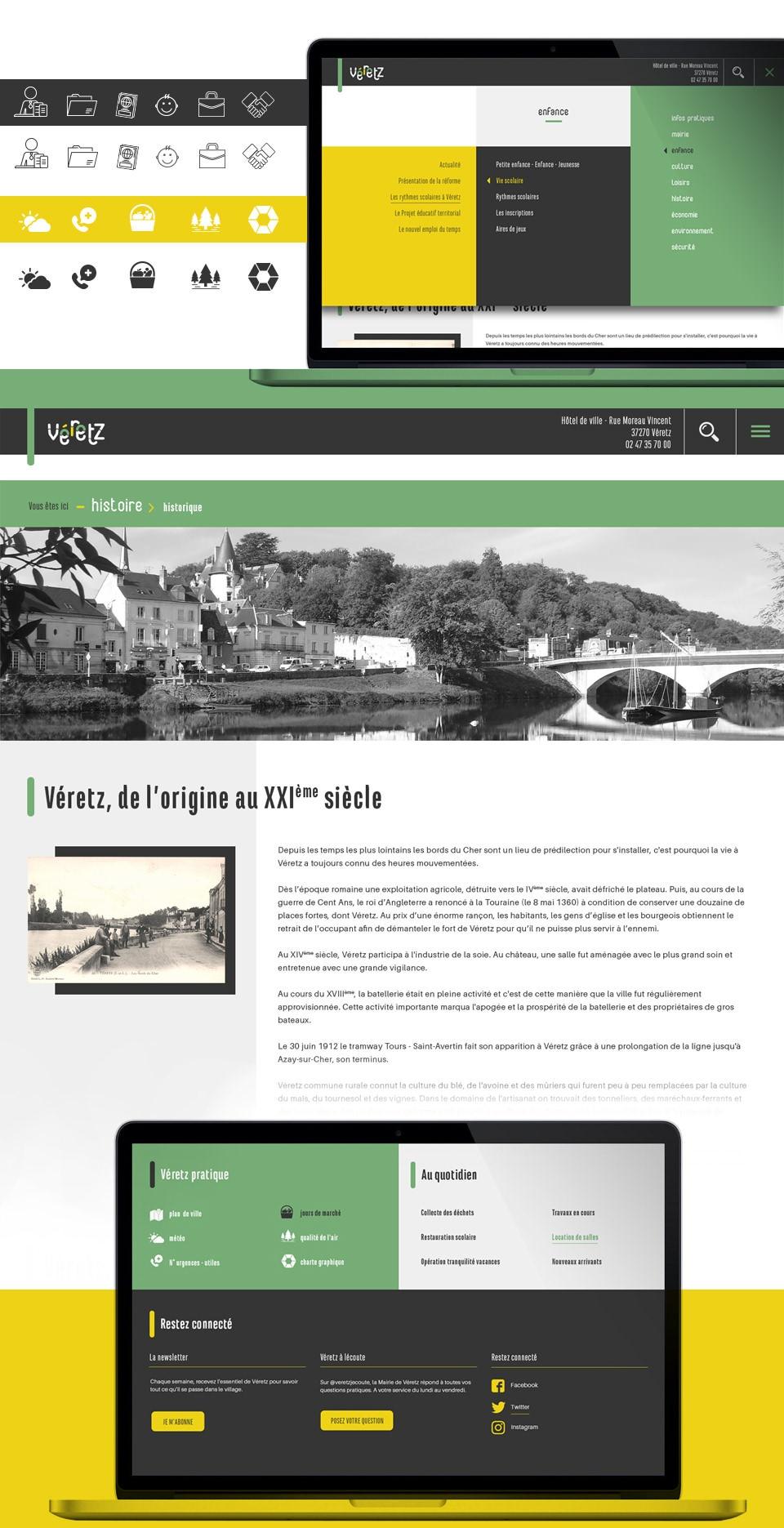 VÉRETZ - Identité visuelle et Web site - Village Moderne
