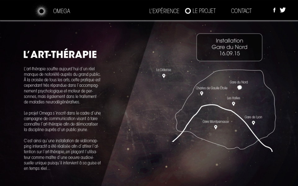 Site web Omega (suite)
