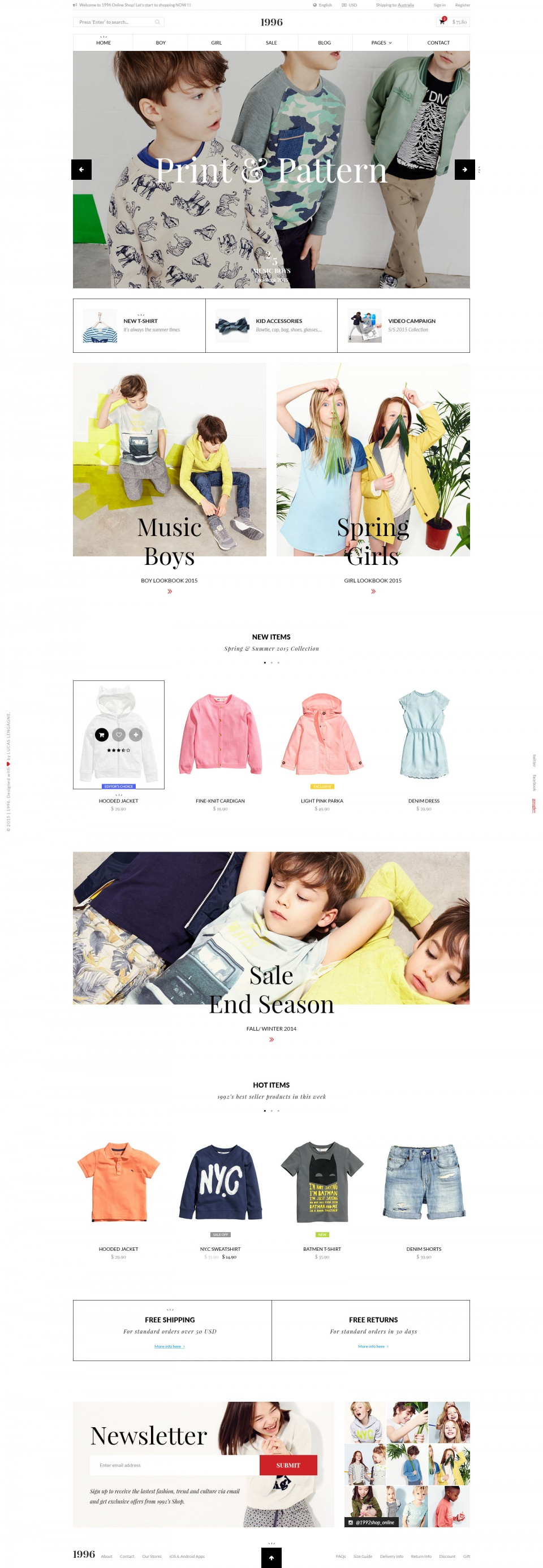 Web Design - showcase