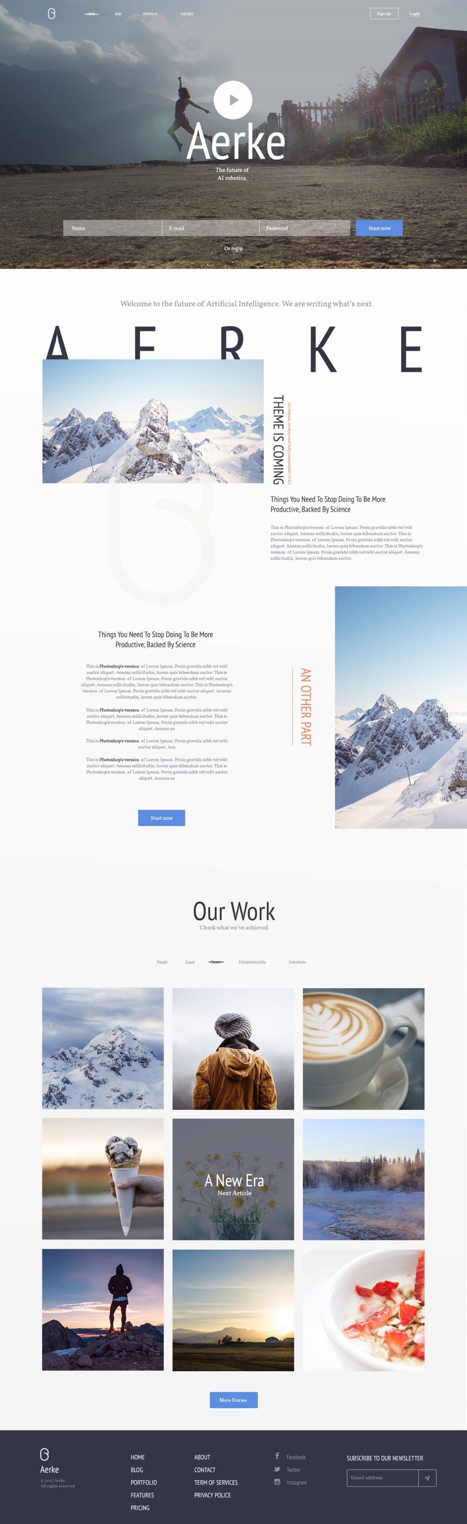 Digital Art Direction / Web Design showcase