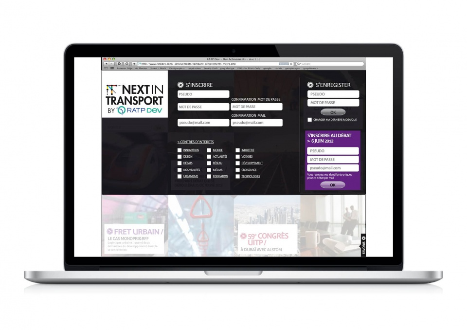 RATP Dev - site intranet