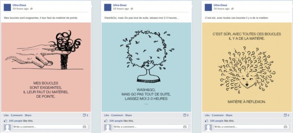 Posts illustratifs sur Facebook et Instagram