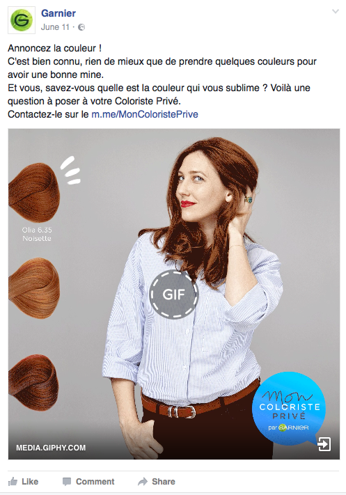 Post Facebook et Instagram - Semaine de la coloration