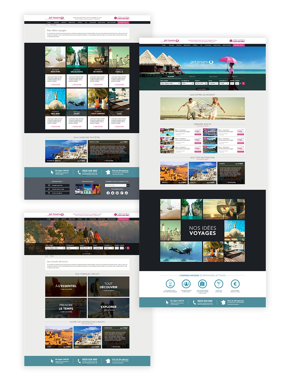 HOme - Landing page idées voyages - Landing page circuits