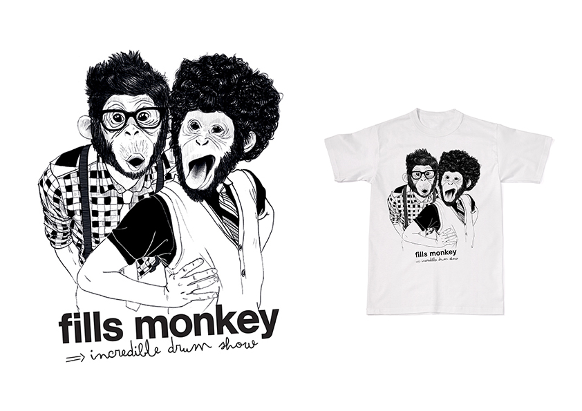 illustration de tee shirt pour les Fills Monkey