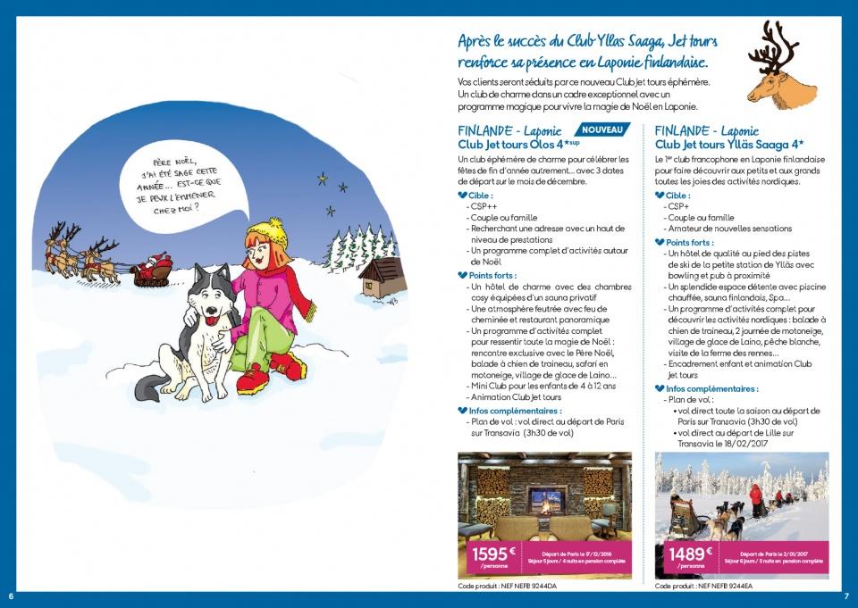 Intérieur du leaflet de vente