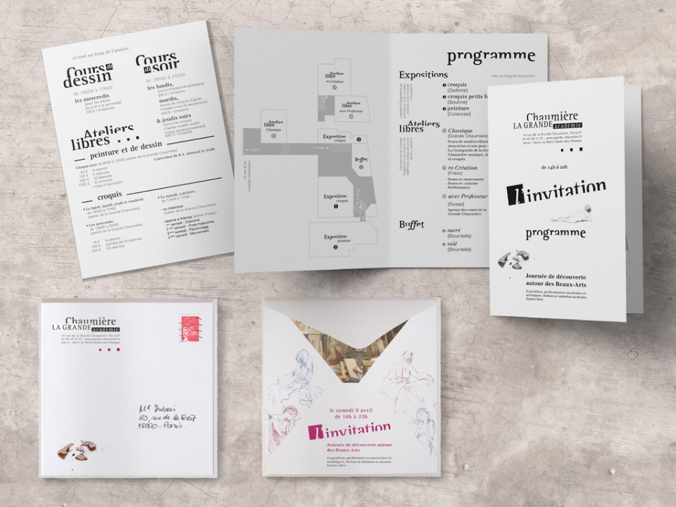 Carton d'invitation & programme