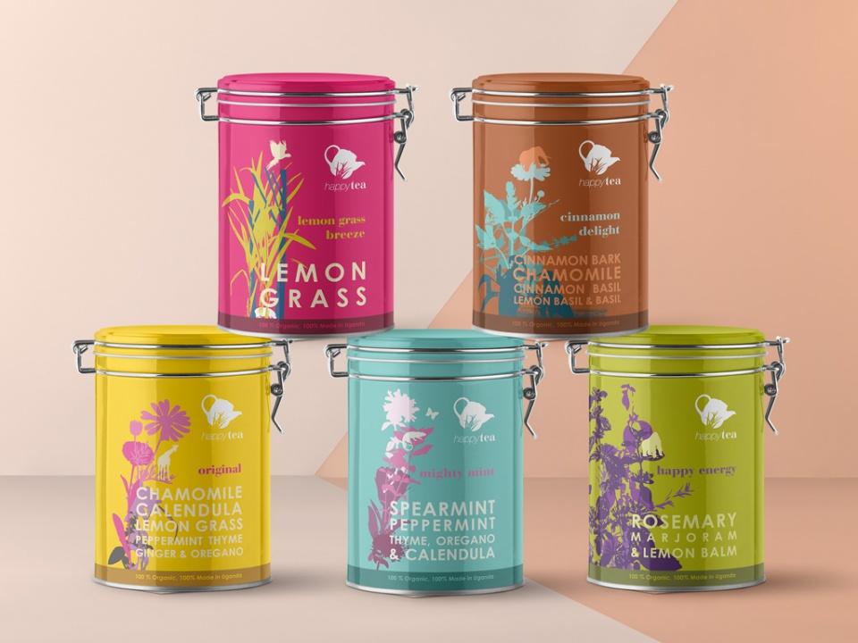 Packaging des boîtes de thé