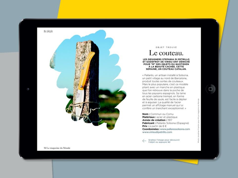 M Le magazine du Monde, 2012-2015.