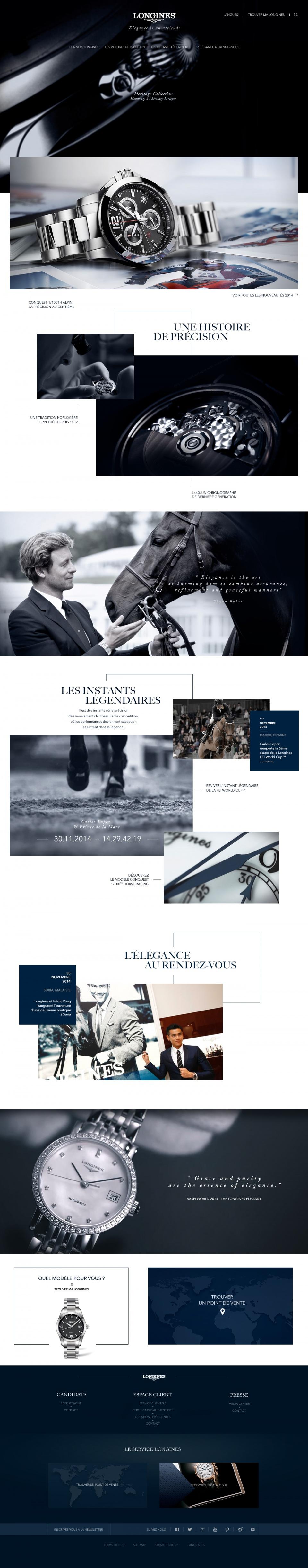 Homepage du site