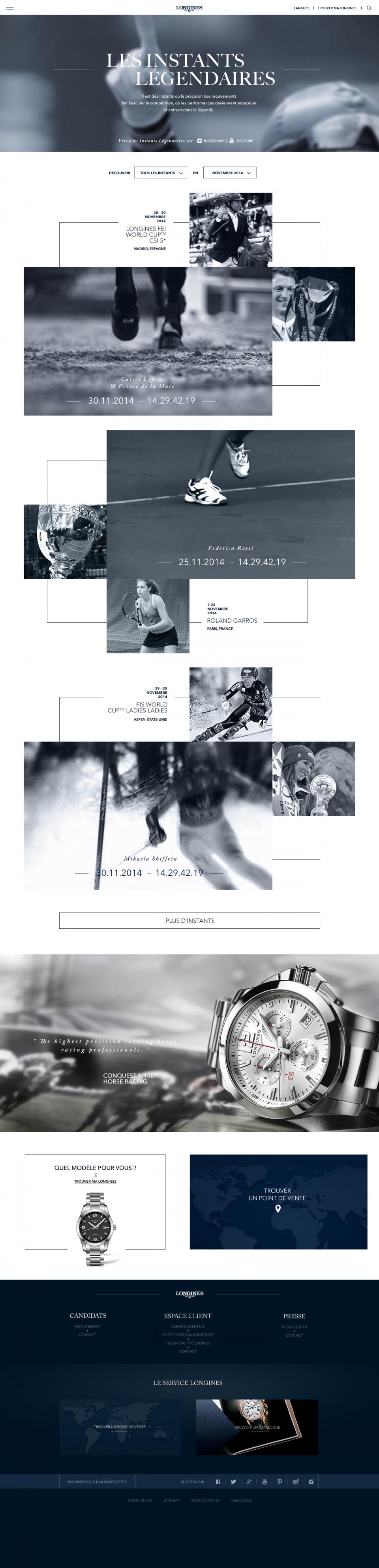 Page Les Instants Légendaires