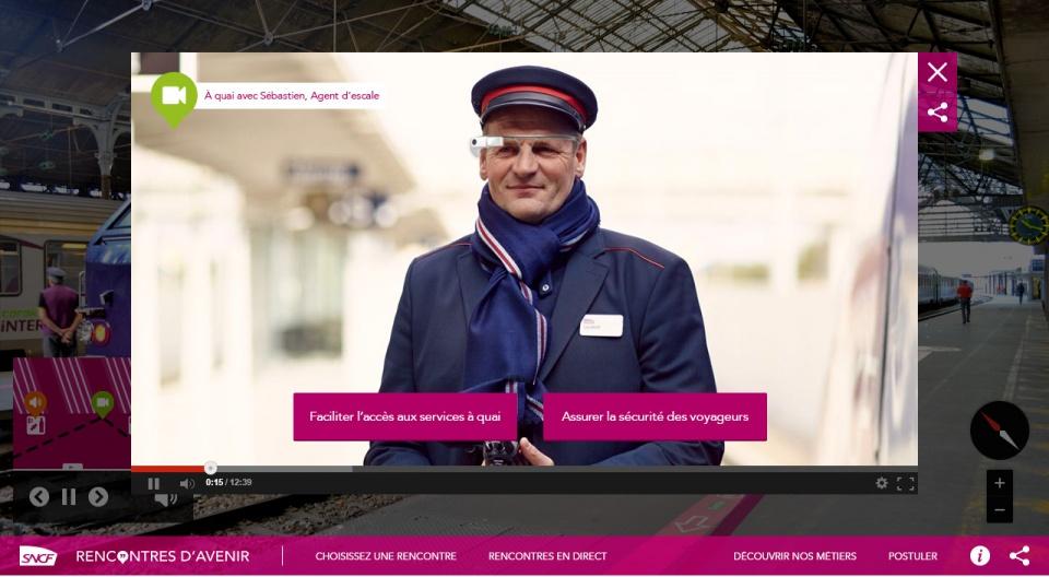 Rencontre virtuelle avec salarié SNCF