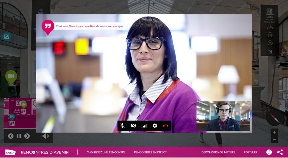 Entretien SNCF via Google Hangouts