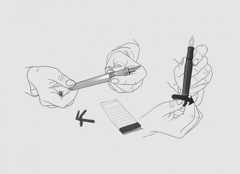 illustrations pour le magazine le stylographe