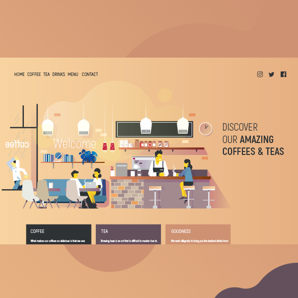 création d'une illustration pour landing page