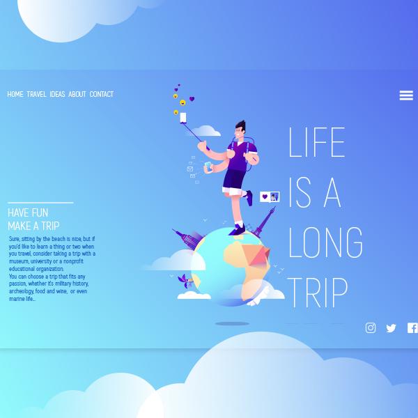 Illustration pour landing page