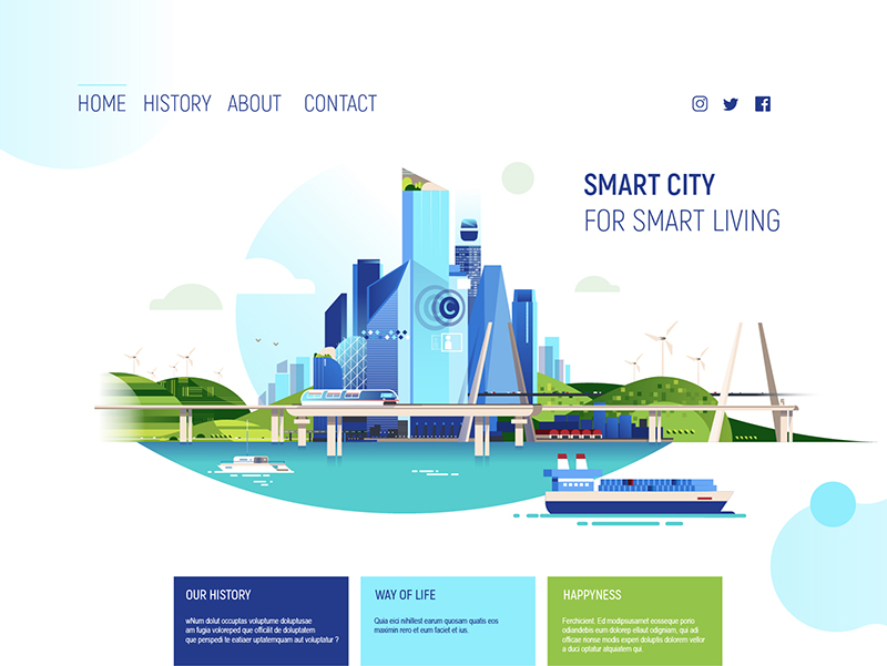 Landing page SMart city