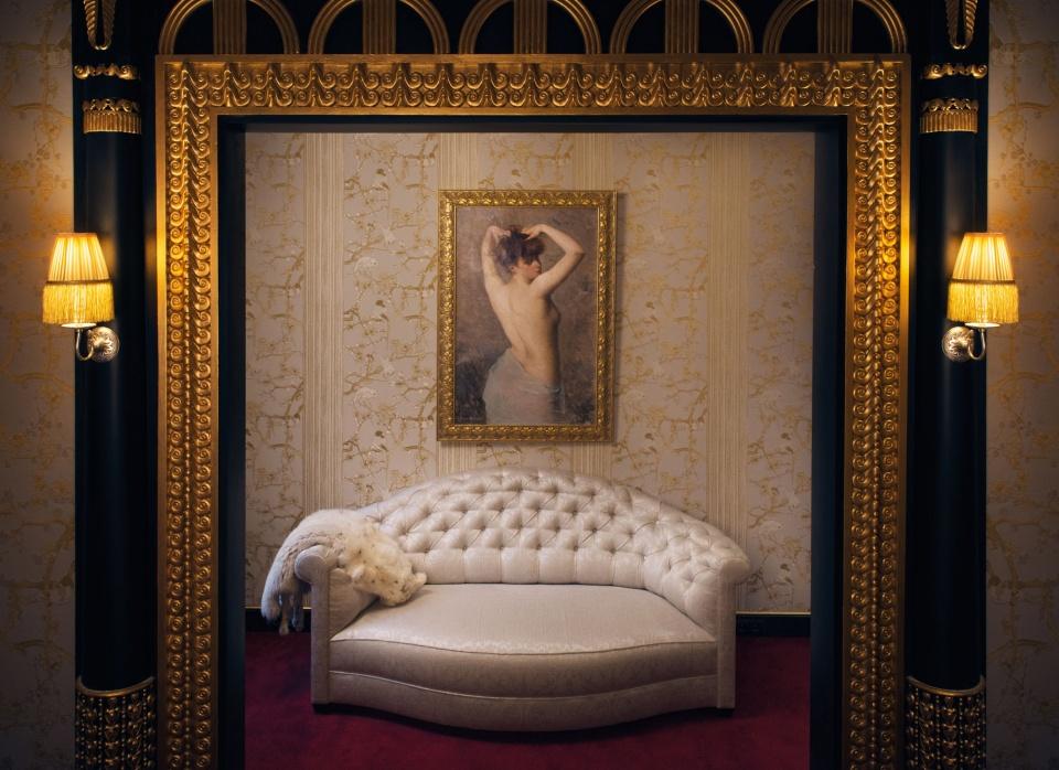 Le boudoir de l'hôtel