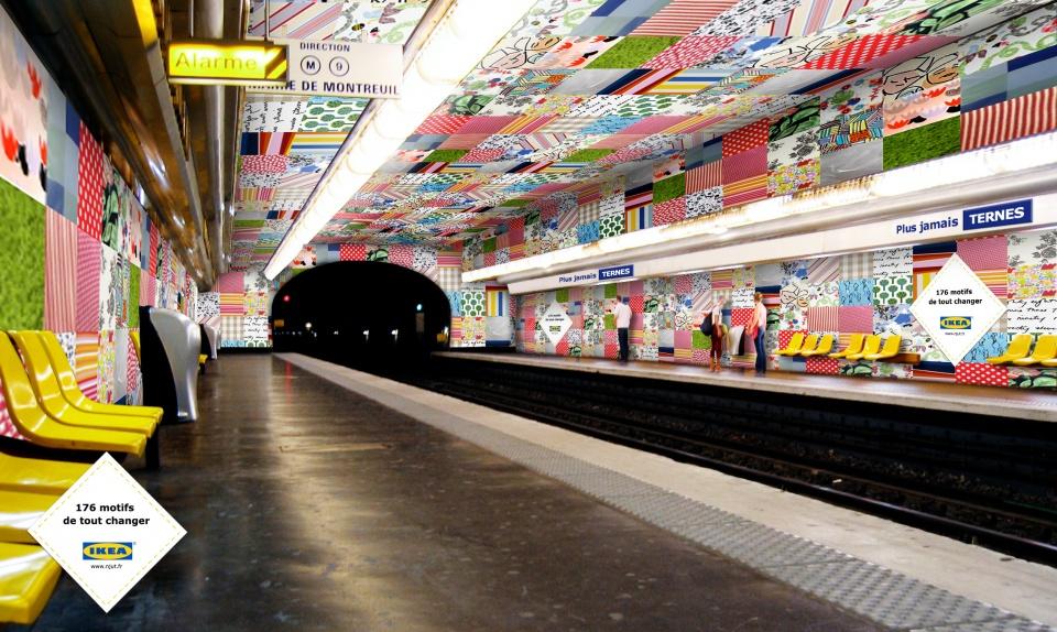 "Metro - Station ""Plus jamais Ternes"""