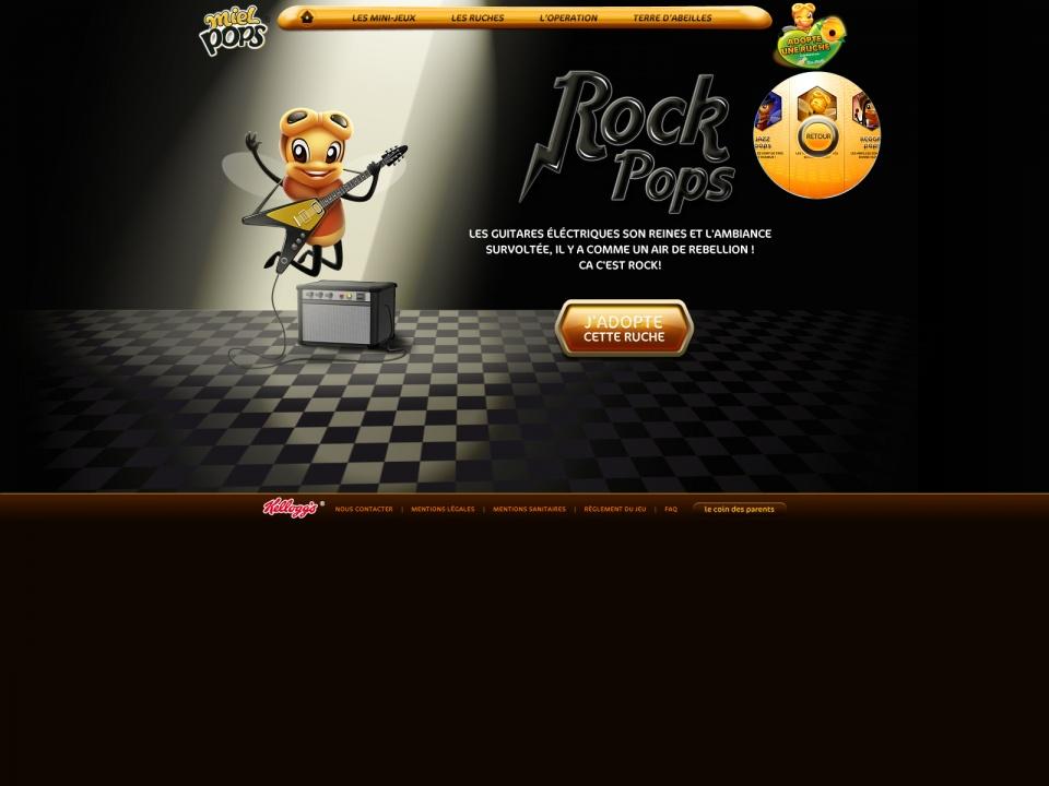 Page Ruche Rock Pop