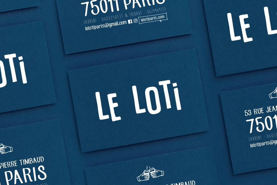 LE LOTI / BRANDING / DESIGN ESPACE