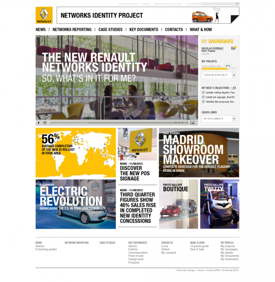 Home page complète