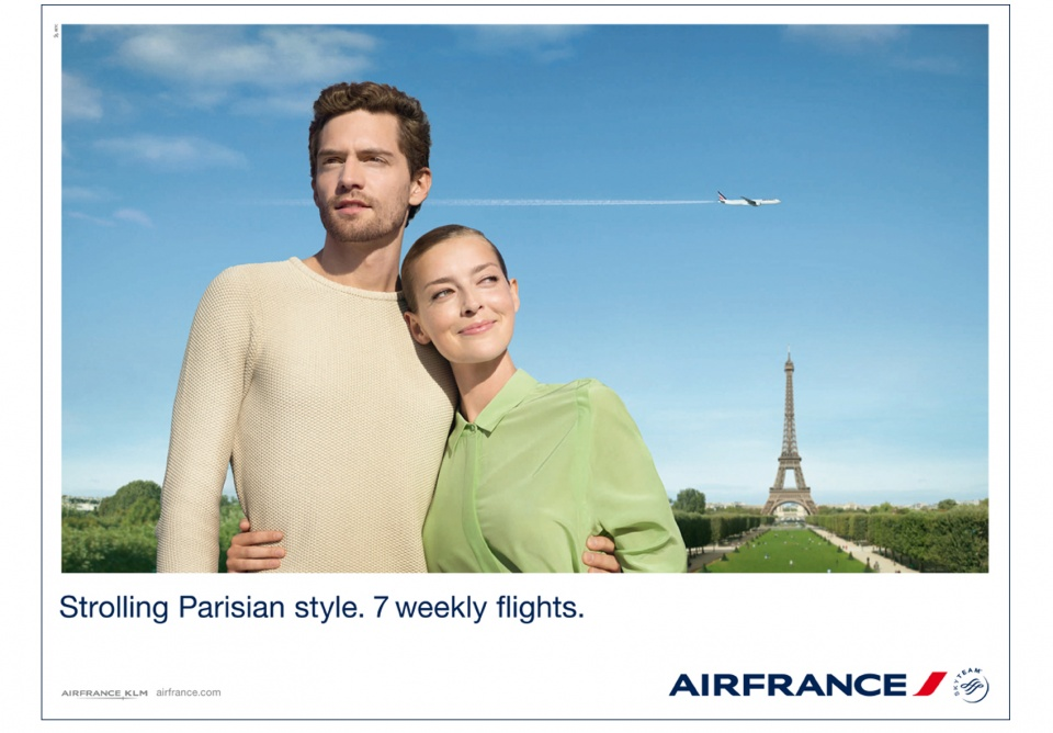 Campagne d'affichage Air France