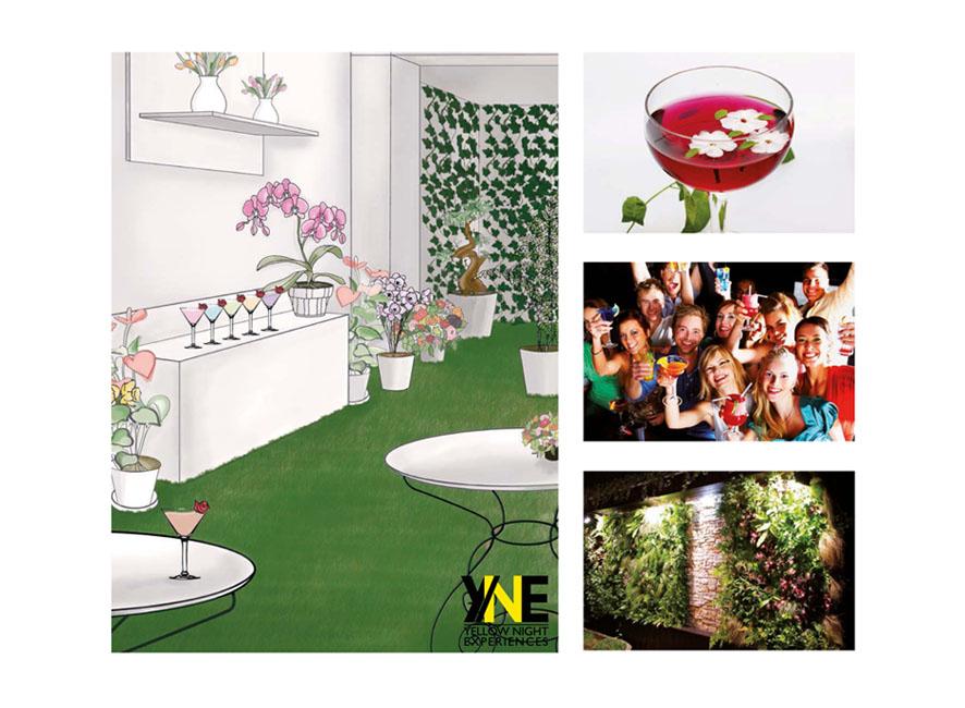 Exemple de lieu insolite crée pour l'occasion : Garden Party