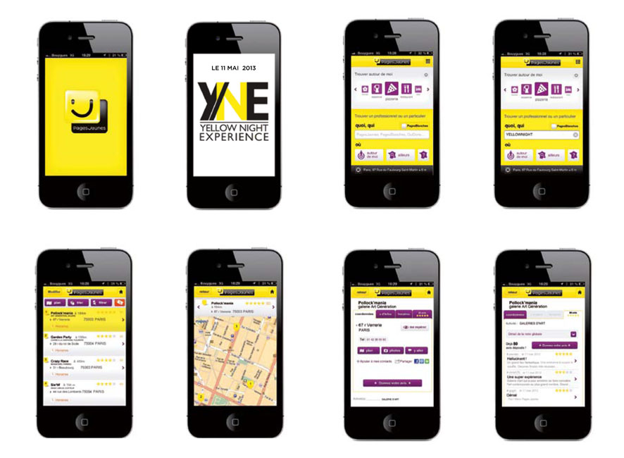 Activation digitale via application Pages Jaunes existante