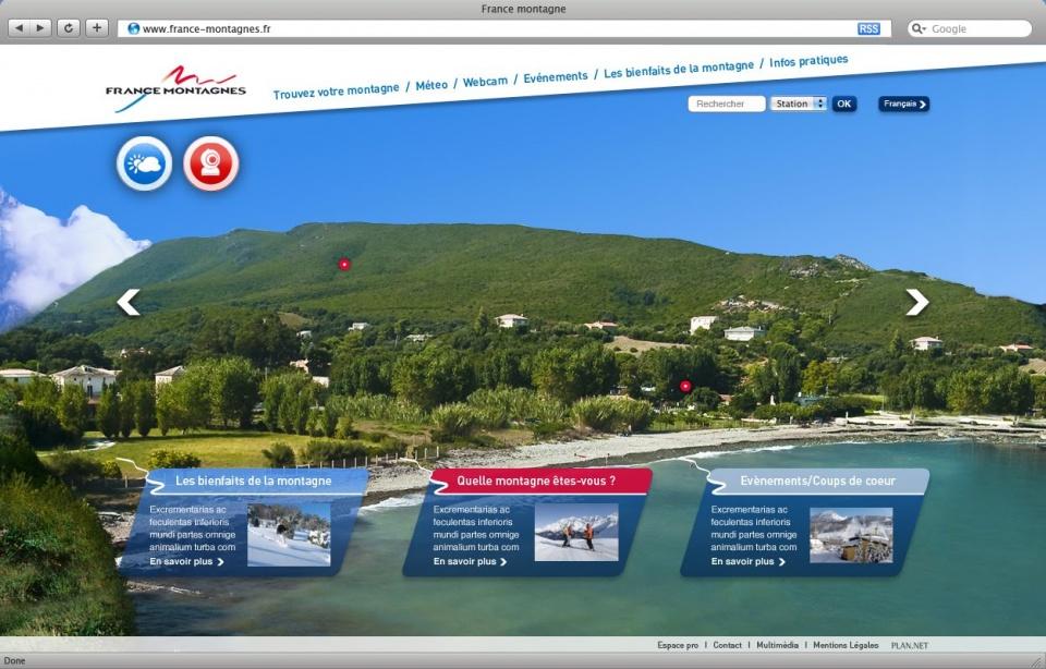 France Montagne - Homepage été