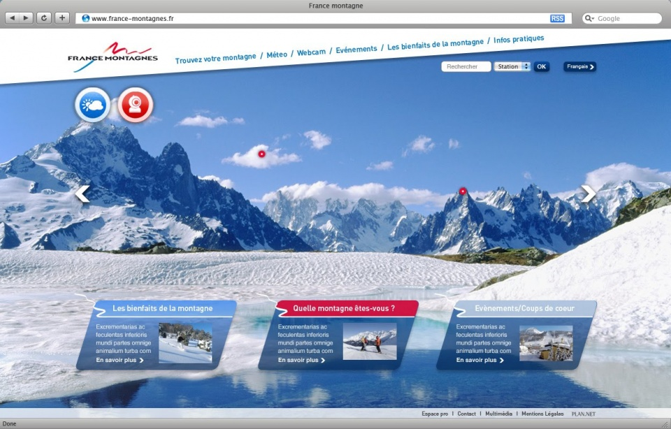 france Montagne - Homepage hiver