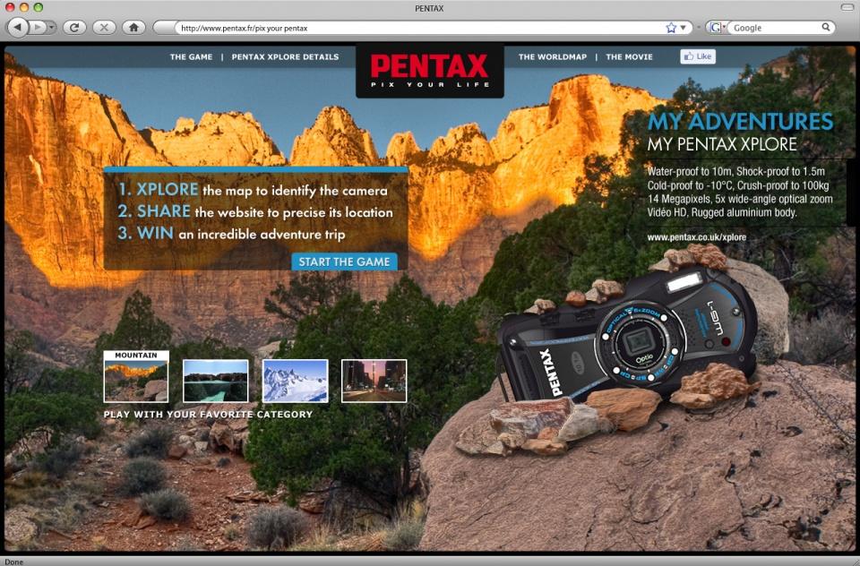 Pentax Xplore - Homepage