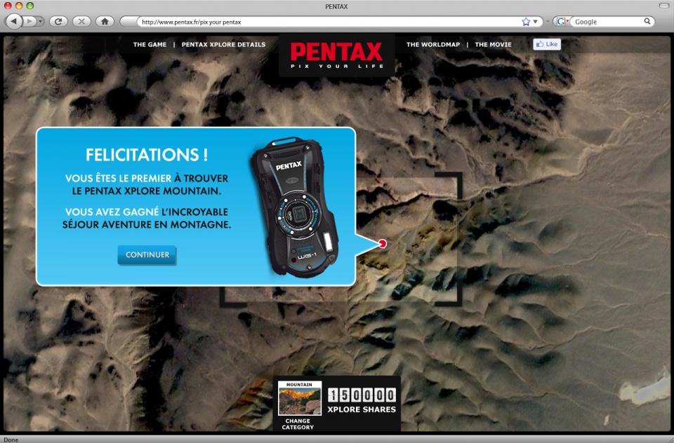 Pentax Xplore - Page jeu 2