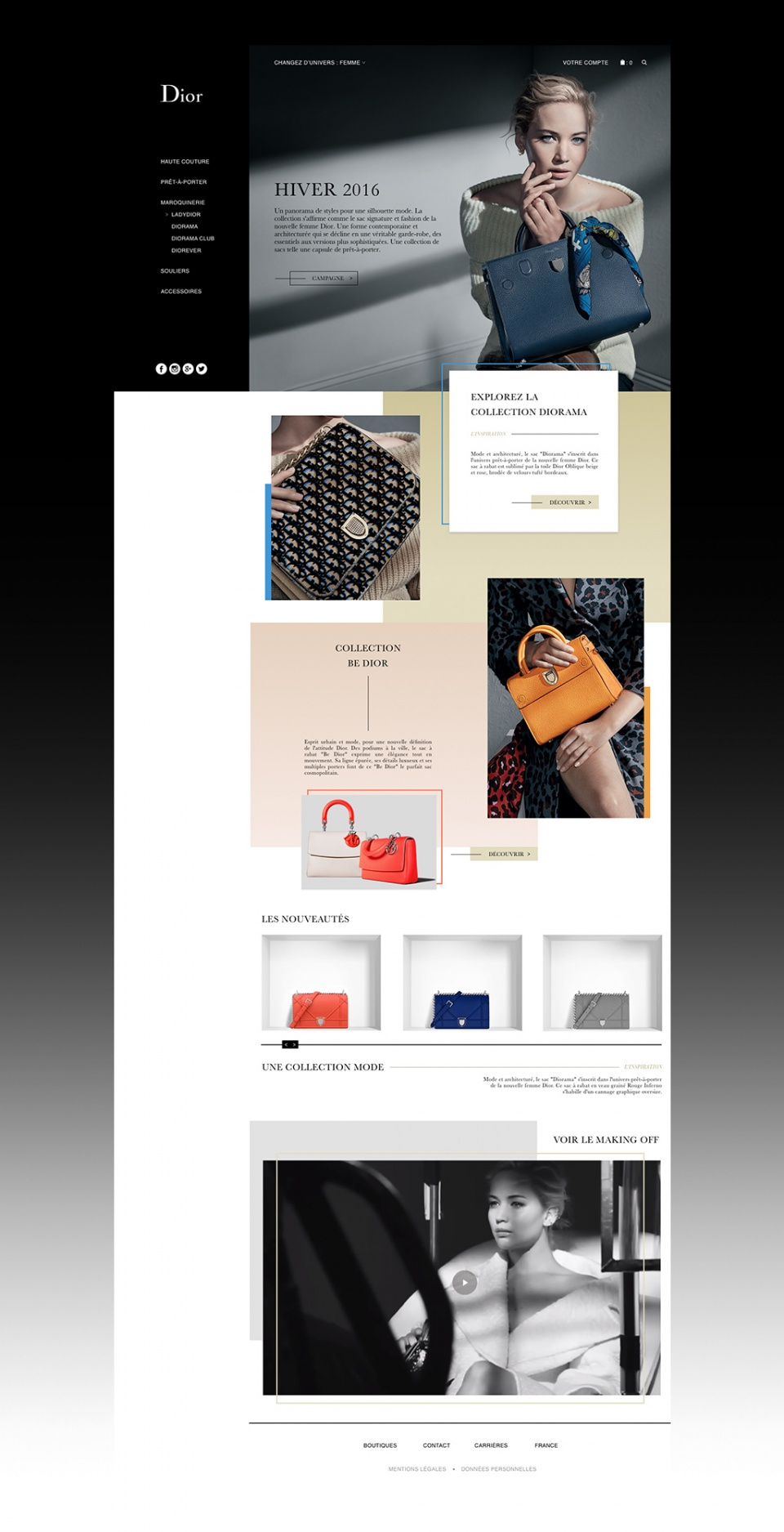 Dior concept webdesign_Home Page