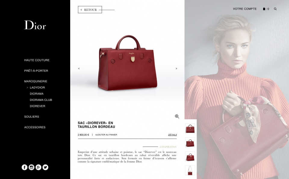 Dior concept webdesign_Product page
