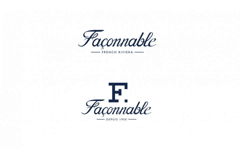 "Logos ""Façonnable French Riviera""& ""F."" (ligne sportwear)"