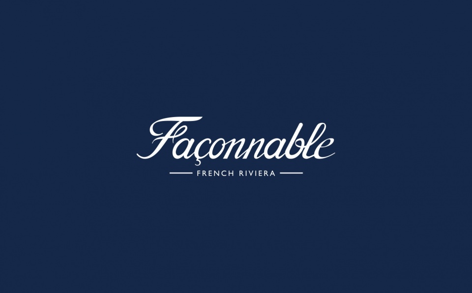 Façonnable Brand identity