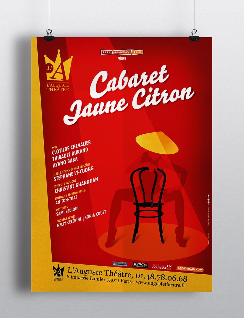 Affiche du spectacle musical « Cabaret Jaune Citron »
