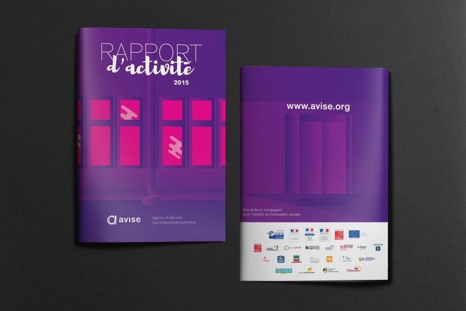 Couverture du Rapport d'activité 2015 basée sur les bureaux du client