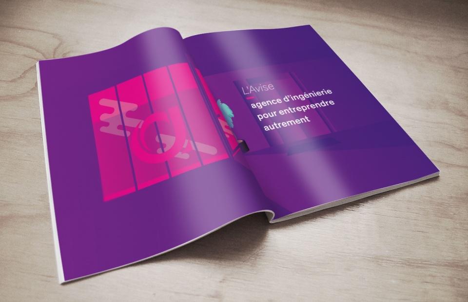 Illustrations des locaux du client dans le Rapport d'activité 2015