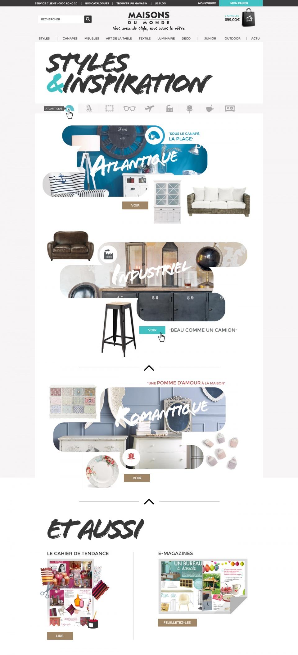 Style et inspiration app design