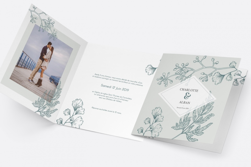 Faire-Part Mariage Botanic Wedding