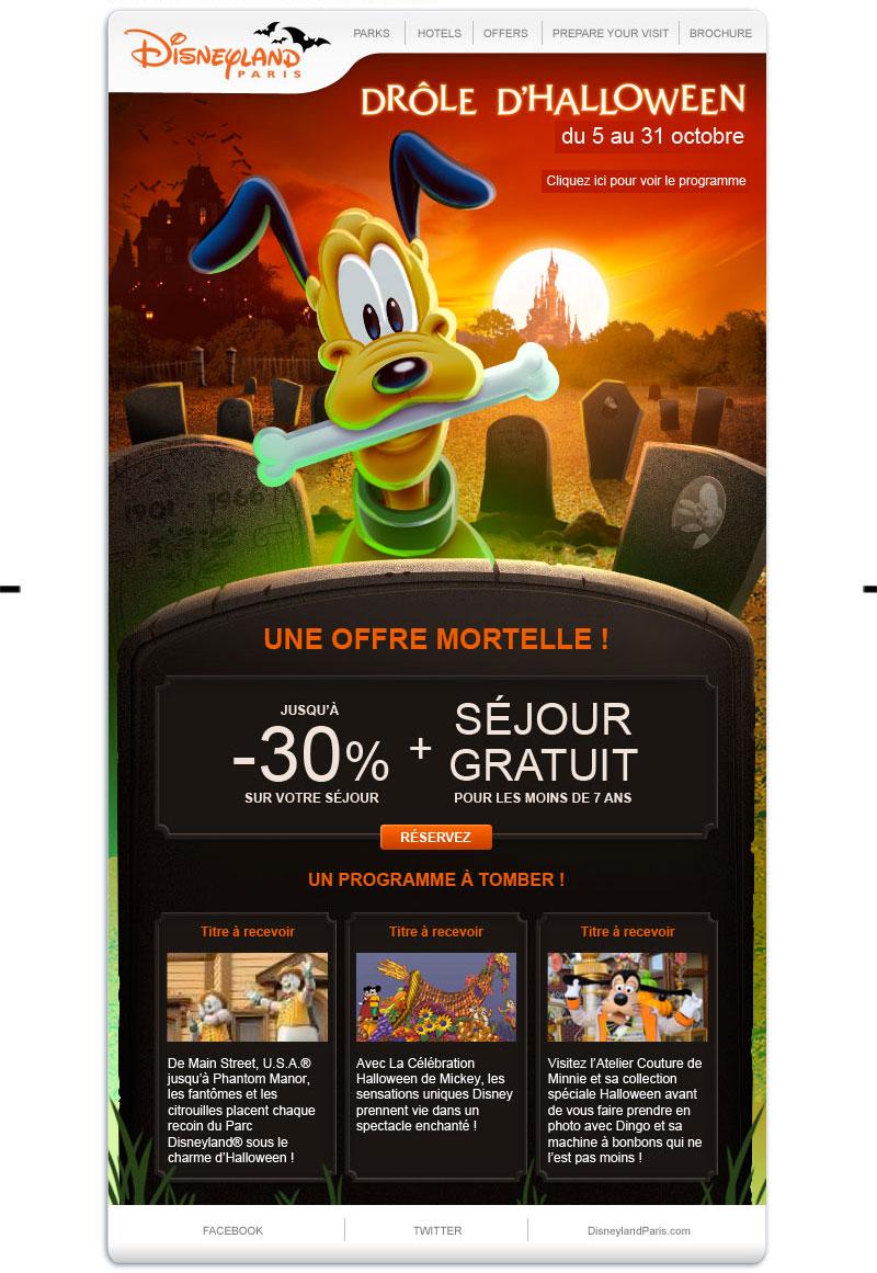 Newsletter Disneyland Paris Halloween