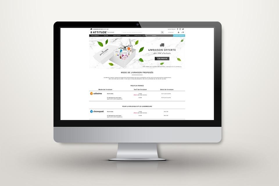 Webdesign attitude.fr - Page livraison
