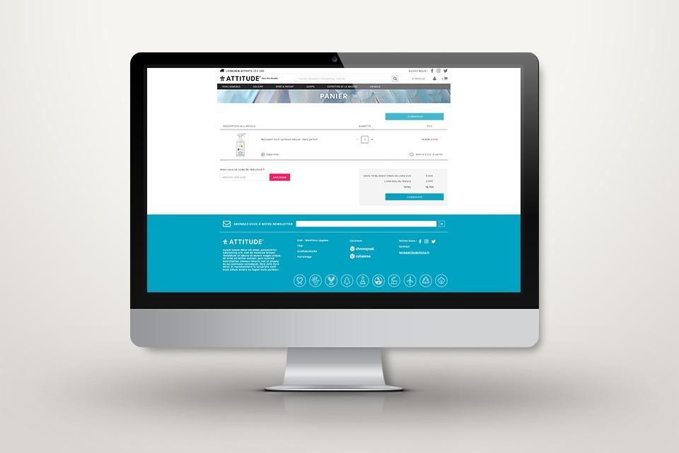 Webdesign attitude.fr - Page panier
