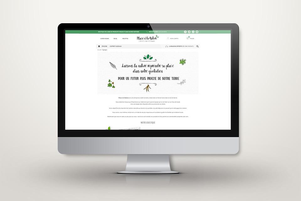 Webdesign de placealanature.com - Page à propos